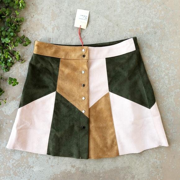 6822dfabc RAGA Skirts | Riley Faux Suede Aline Button Up Skirt | Poshmark